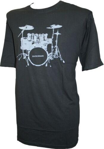 Espionnage tambour kit col rond t-shirt noir
