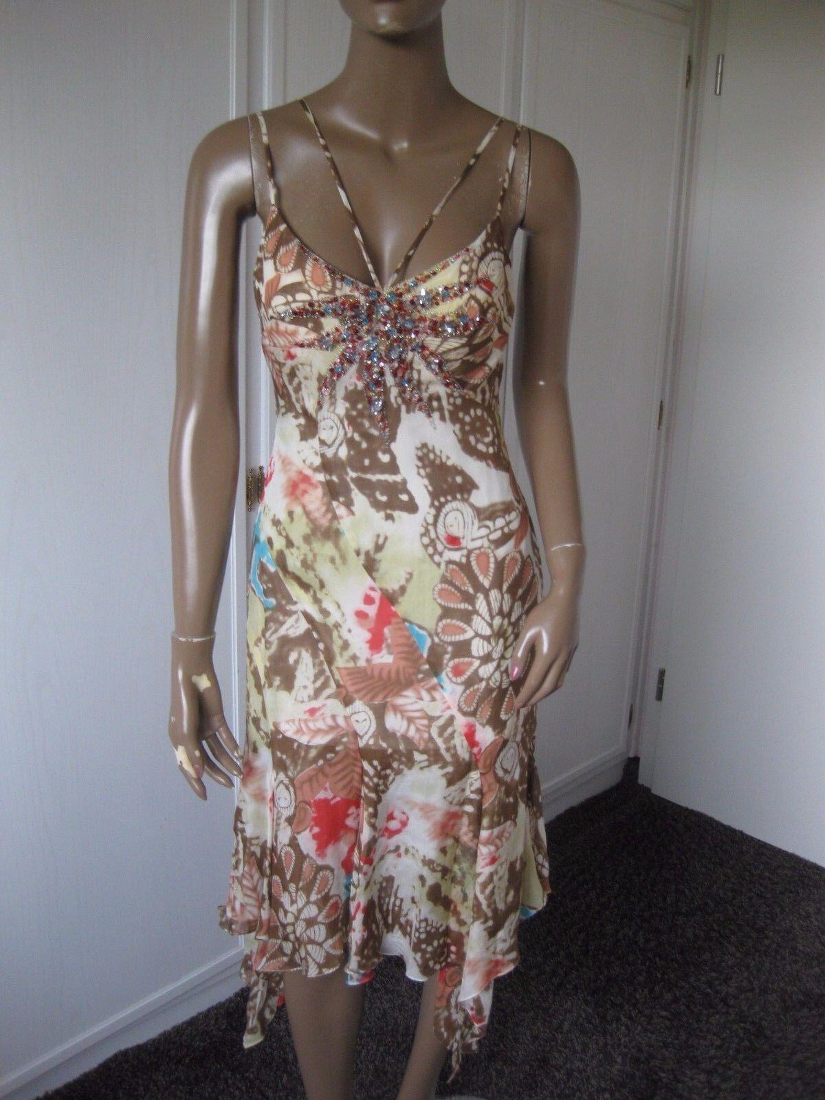 Mooire zauberhaftes Träger-Kleid   Zipfelkleid Gr.36  100% Seide    NEU