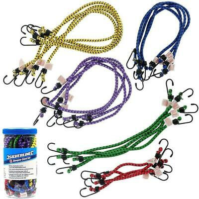 Bungee Cords Straps Rope With Hooks Ties Mini Tie Down Cargo Canopy Set Kit 24Pc