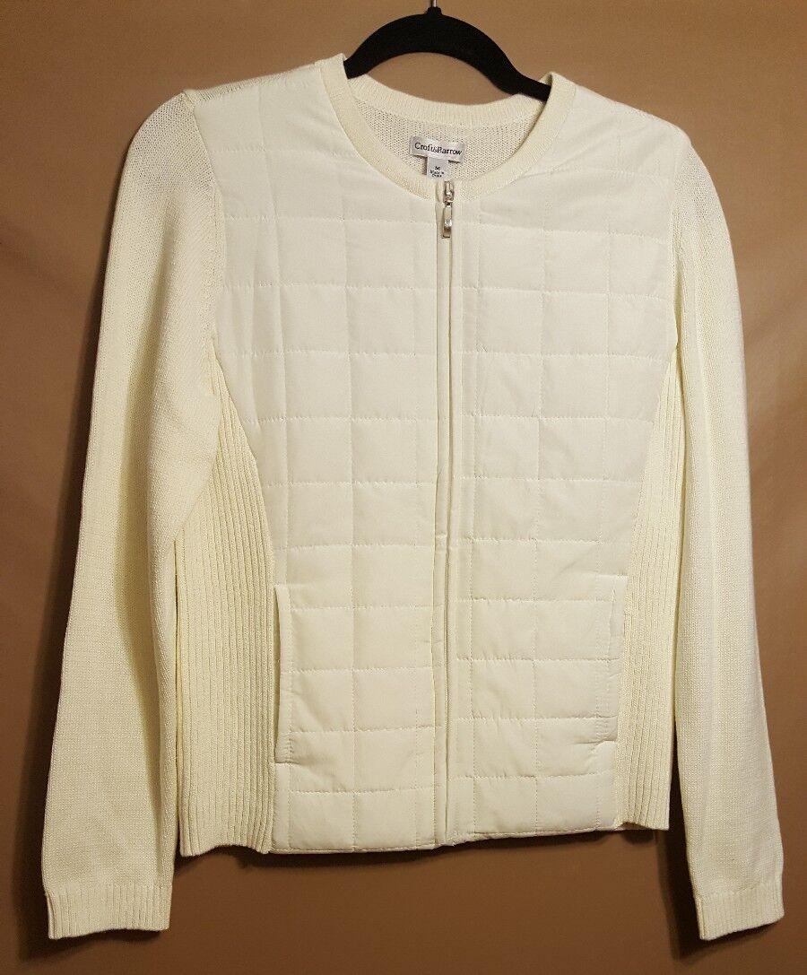 Croft and Barrow - Suéter / chaqueta acolchada blanca mediana de mujer ¡NUEVO!MRSP $ 54