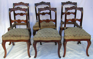SET OF 6 ANTIQUE MAHOGANY DINING CHAIRS
