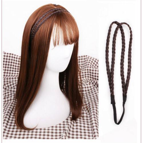 Women Suede Braided Hair Plaited Fishtail Elastic Head Band Hairband N7