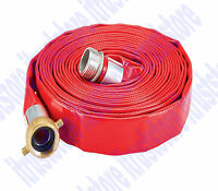 Roll Flat Trash Pump Pvc Waste Water Discharge Evacuation Hose 1 X 25 Ft.