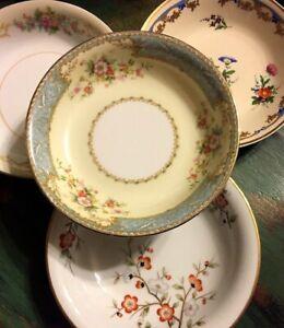 4-Vintage-Mismatched-China-Fruit-Dessert-Bowls-Wedding-Hatter-Shabby-94