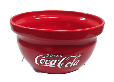 Coca-Cola  Batter Bowl Plant Bowl Ceramic Bowl Red with White Logo BRAND NEW