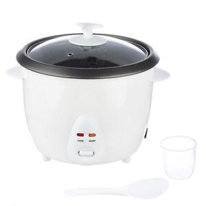 Reiskocher-elektrisch-700-Watt-Gemuesegarer-Dampfgarer-Rice-cooker-Weiss-1-8-L