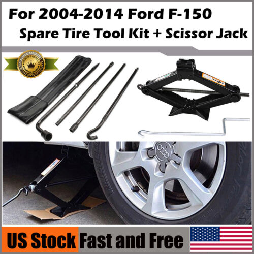 Spare Tire Lug Wrench Tool Kit 2 Tonne Scissor Jack For Ford F150 US Stock NEW
