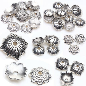 Tibet-Silver-Plated-Hollow-Flower-Spacer-Bead-Caps-DIY-Jewelry-Making-Acces