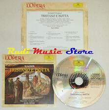 CD WAGNER tristano e isotta WINDGASSEN NILSSON WACHTER grandi opera lp mc dvd