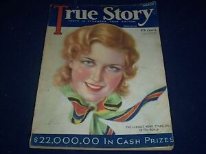 1932 MARCH TRUE STORY MAGAZINE