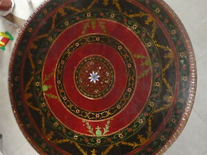 Agressif Ancienne Table Ronde Indienne