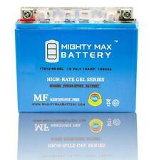 Mighty Max YTX12-BS 12V 10AH GEL Motorcycle Battery for Honda, Suzuki, Kawasaki
