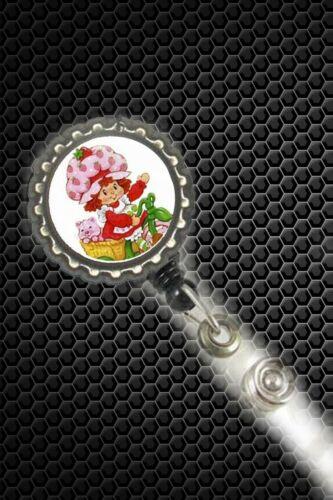 strawberry shortcake work Retractable Reel ID Badge Holder nurse secretary cna