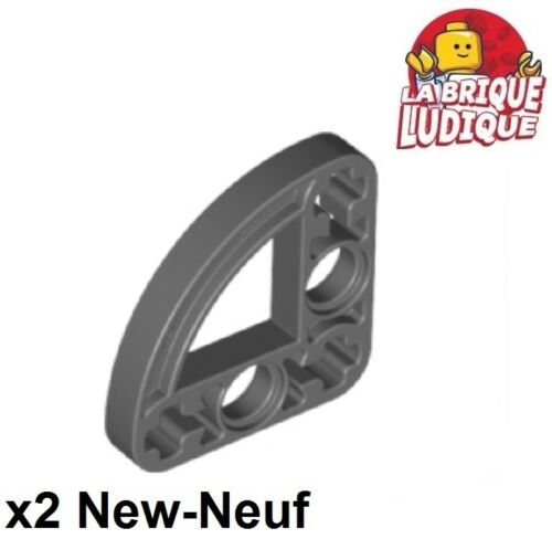 2x Liftarm 3x3 l-Form thin dünn Graue f/dark B gray 32249 neu Lego TECHNIK