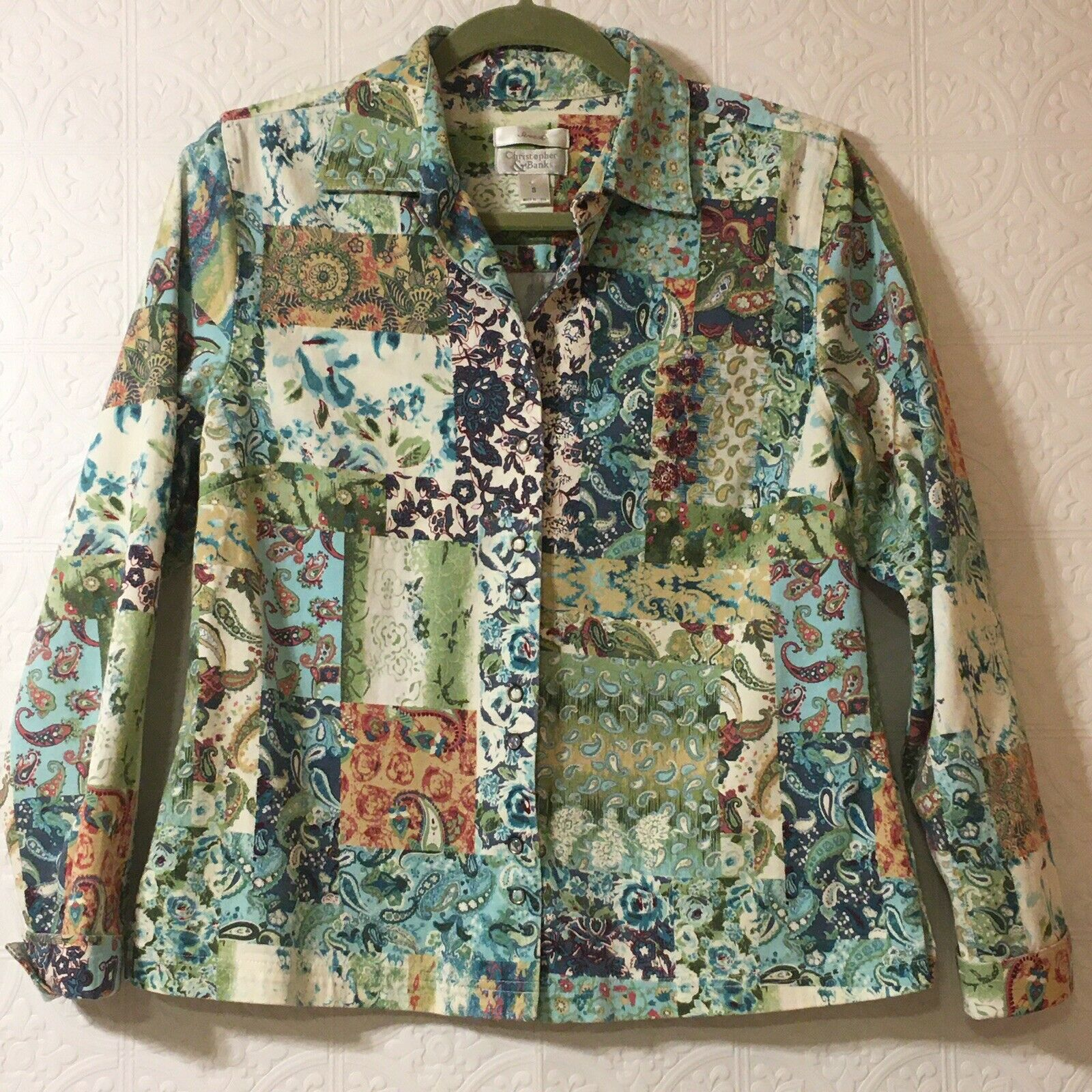 CHRISTOPHER & BANKS Jacket Women's Size Small Pea… - image 1