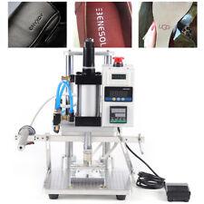 110v Hot Foil Stamping Machine Air Pneumatic Leather Wood Pvc Logo Press 8x10cm