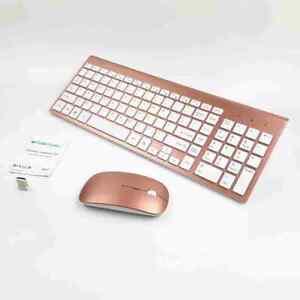 Details about Slim Mini 2 4G Wireless Mouse and Keyboard Kit For Desktop  Laptop FPK Sj