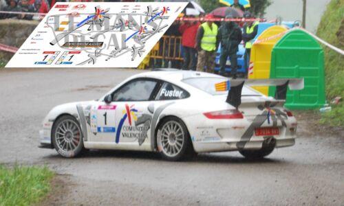 Calcas Porsche 997 Rally Cantabria Infinita 2009 Slot Fuster decals