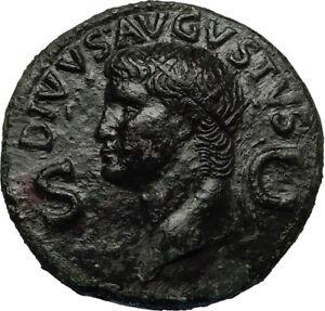Divus-AUGUSTUS-37AD-Dupondius-Authentic-Ancient-Roman-Coin-of-CALIGULA-i67816