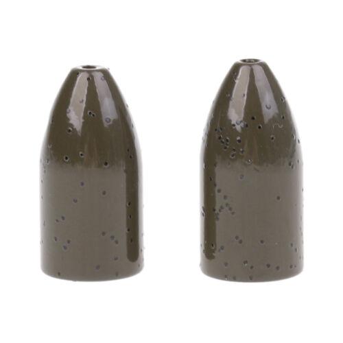 Fishing Tungsten Flipping//Worm Weights Bass Bullet Sinker Insert-free Style