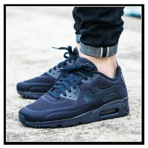 pretty nice 67eb2 525ab Image is loading Nike-Air-Max-90-Ultra-BR-Midnight-Navy-