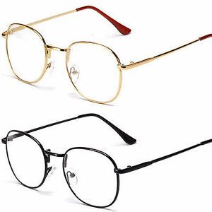 grande ovalado redondo lente transparente gafas a la moda entallado marco ebay. Black Bedroom Furniture Sets. Home Design Ideas