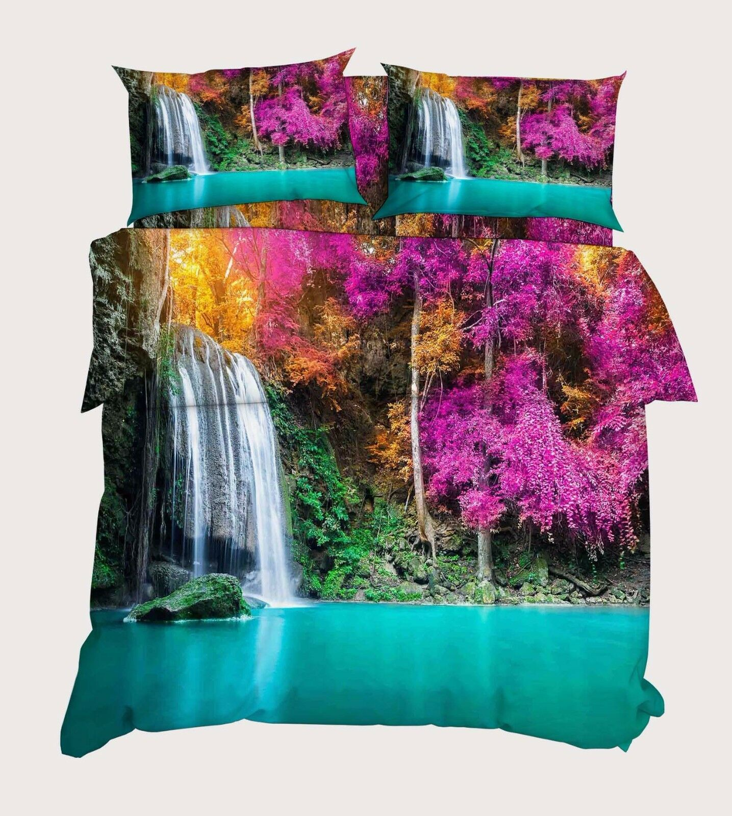 3D Bule Pool Tree 896 896 896 Bed Pillowcases Quilt Duvet Cover Set Single Queen UK Kyra 7861a4