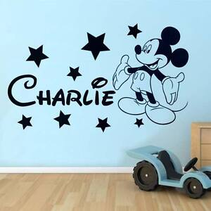 Image Is Loading Mickey Mouse Wall Sticker Disney Style Personalised Any  Part 13