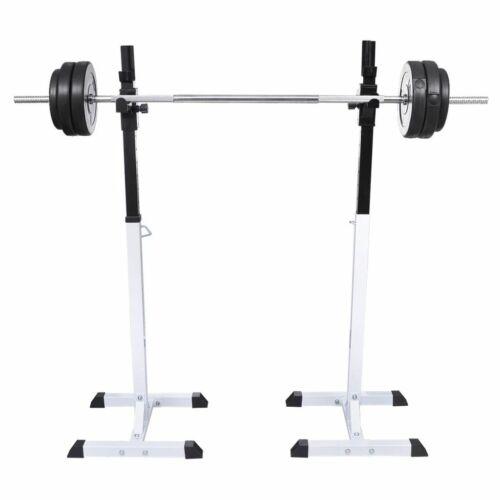 Support barres haltères longs musculation Hauteur réglable exercice#FE