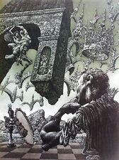 JULIAN JORDANOV , Large Free Style Print , Ex Libris , 1997 ,  Limited Ed. 37/60