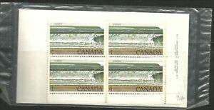 Canada #726 $1 Fundy National Park UNOPENED matched set 4 plate blocks #1 MNH **