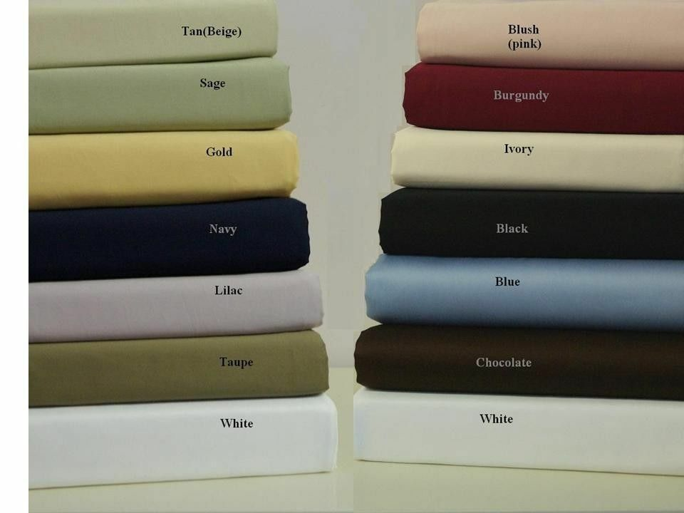 Egyptian Cotton 1000 Thread Count All Size Bed Collection Select Item&color