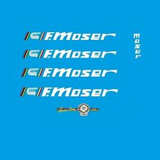 "Francesco Moser ""51.151"" Bicycle Decals, Transfers, Stickers - White - n.31"