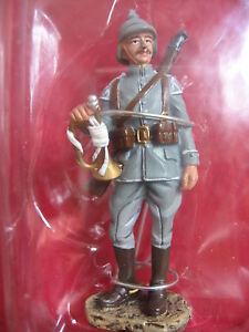 FIGURINE HACHETTE  SOLDATS DE 1914 1918 14-18  #24B DRAGON CLAIRON ALLEMAND 1914