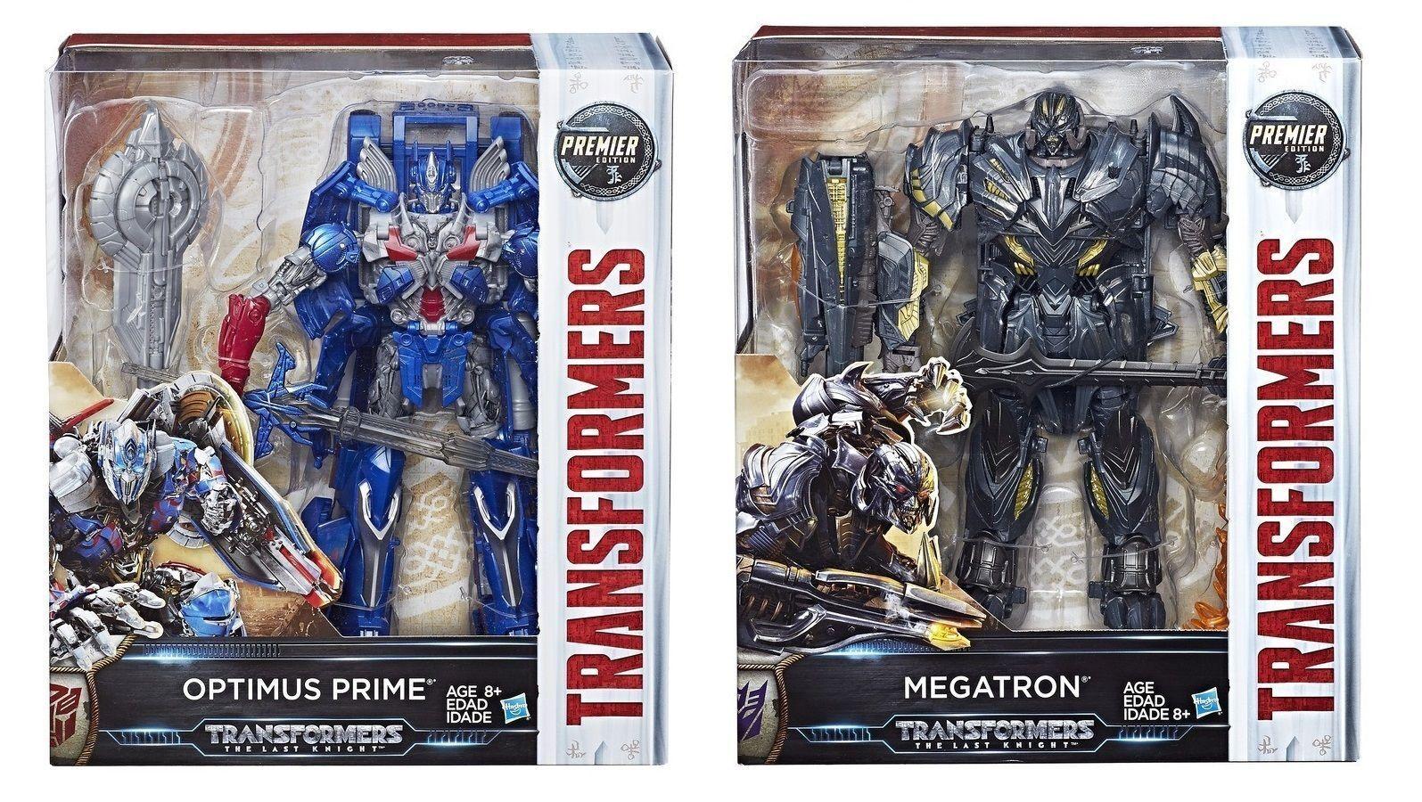 Transformers Last Knight Premier Ed Leader Class Optimus Prime & Megatron