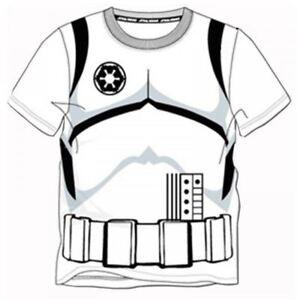 229a9e25d La imagen se está cargando Disney-Star-Wars-Stormtrooper-Camiseta -infantil-Top-Official-