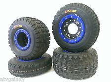 Hiper CF1 Beadlock Rims Maxxis Razr MX Tires Front/Rear Kit Honda TRX 450R 400EX