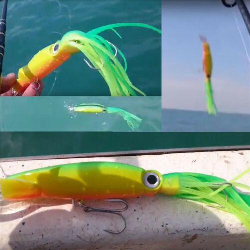 6pcs//lot Octopus Squid Jig Fishing Lures Trolling Big Game Saltwater Lures New