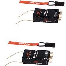2X 6Ch. ED7000e Receiver Empfänger DSM2 Top +/-800m, für Spektrum DX6i,DX7S usw.