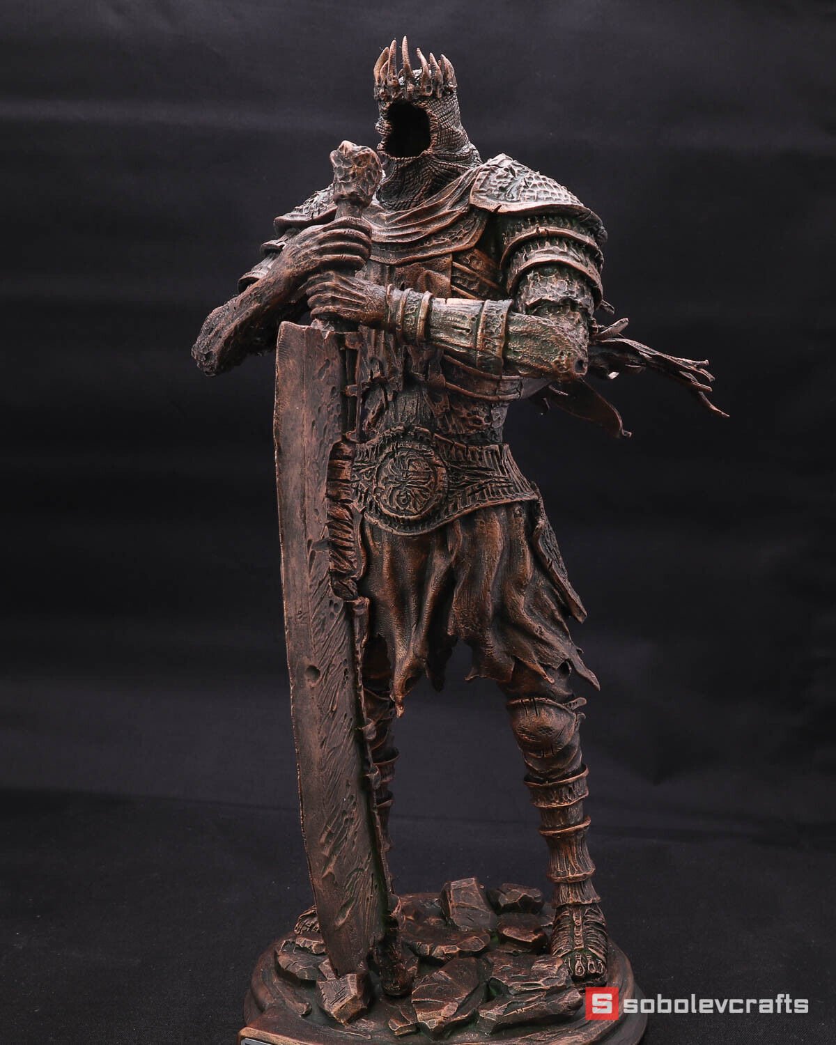 Yhorm the Giant - Lord of Cinder. Dark Souls 3. Bronze Farbe Handmade. game gift