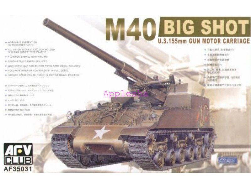 AFV Club 35031 1 35 U.S.155mm Gun Motor Carriage M40 Big Shot