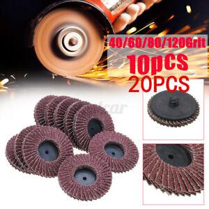 20-x-Flap-Disc-115mm-Angle-Grinder-Sanding-Disc-40-60-80-120-Grit-Grinder-Wheel