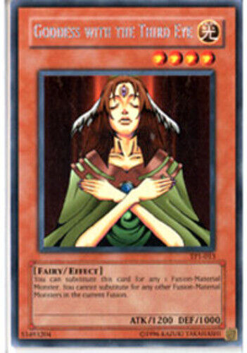 YuGiOh Goddess with the Third Eye TP1-013 Unlimited Edition Moderatel Rare