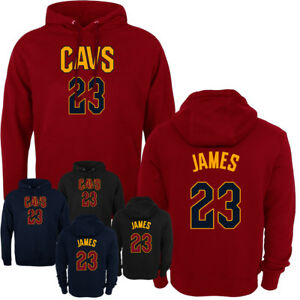 new concept a3fbc 5c39b Details about Cleveland Cavaliers Lebron James Jersey Men's Hoodie