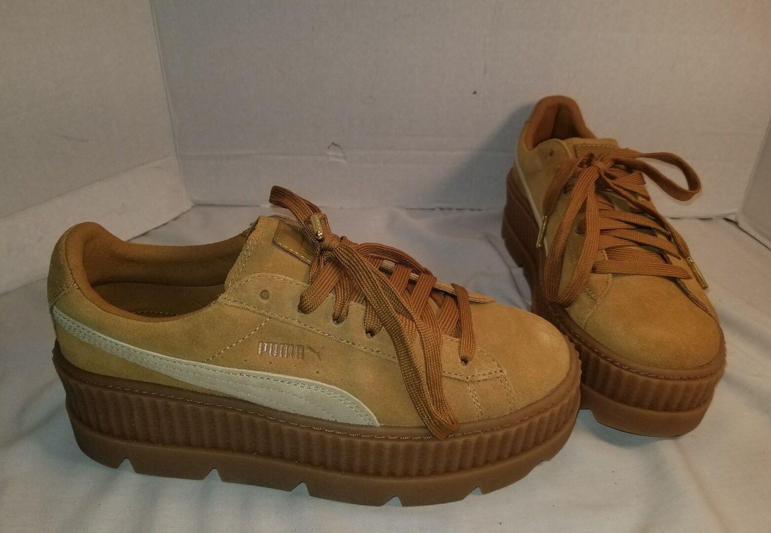 NEW PUMA FENTY BY RIHANNA CLETED CLETED CLETED CREEPER TAN SUEDE scarpe da ginnastica donna Dimensione US 9 3a6d10
