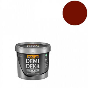 Jotun-Demidekk-Helmatt-0-75l-034-Schwedenrot-034-matte-Wetterschutzfarbe-Holzfarbe