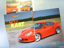 AUTO998-RITAGLIO/CLIPPING/NEWS-1998-PORSCHE 911 TECHART - 3 fogli