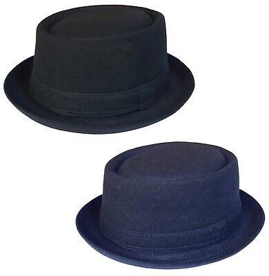 funzionario di vendita caldo nuovo di zecca acquista autentico Mens or Womens Pork Pie Hat New Trilby Cap in Black or Navy Sizes: 55 - 61  cm   eBay