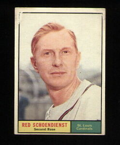 Red-Schoendienst-of-the-Cardinals-on-a-1961-Topps-card-505-in-EX-condition