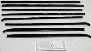 1971-74 Plymouth Barracuda Coupe Repops Window Felt Weatherstrip Kit 4 pcs